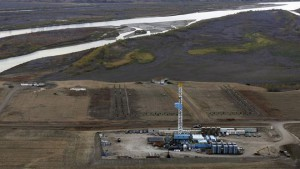 Photo courtesy of Fox Business. An oil drilling rig operates near homes, farm fields and the Missouri River outside Williston, North Dakota, October 19, 2012. Thousands of people have flooded into North Dakota to work in state's oil drilling boom. (REUTERS)